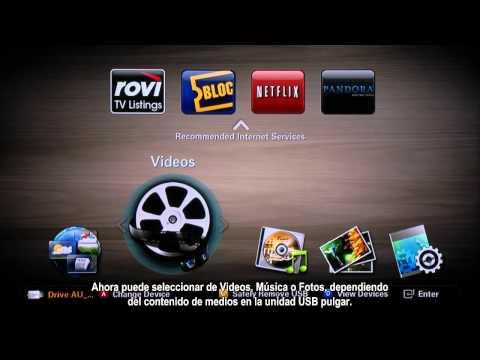 Como ver Medios en un Reproductor Blu-ray 3D usando el Puerto USB