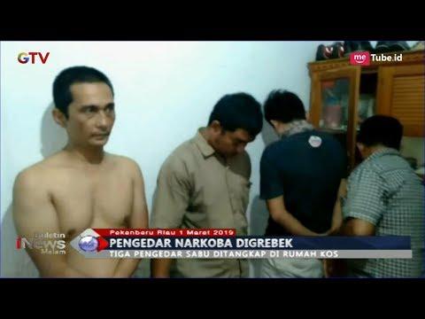 Polisi Gerebek 3 Pengedar Narkoba sedang Asyik Pesta Sabu di Pekanbaru - BIM 01/03