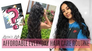 My UPDATED AFFORDABLE Everyday Wavy Curly Hair Routine | Long Hair