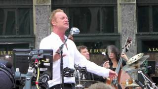 "Sting performs ""Englishman In New York"" live in NYC"