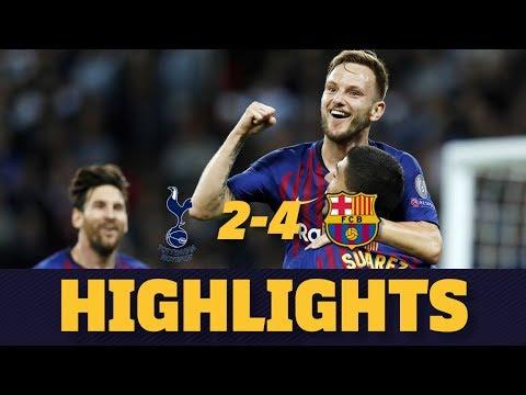 TOTTENHAM 2-4 BARÇA   Match highlights