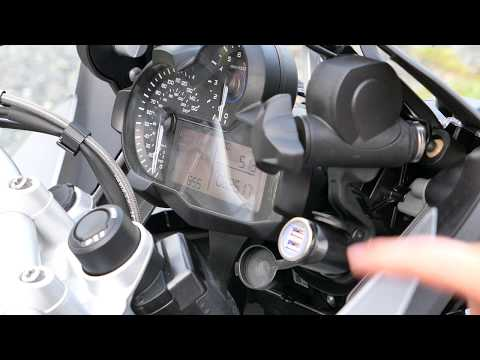 Motorcycle BMW Hella DIN Plug to Dual Port USB Charger Install