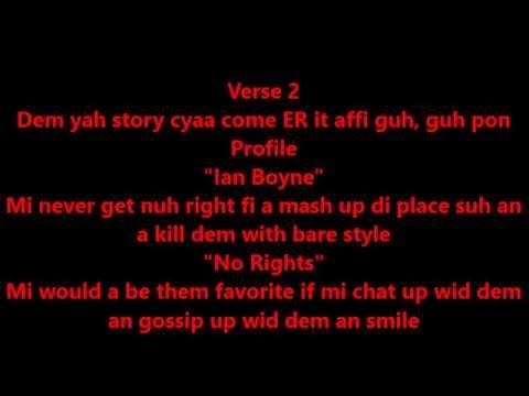 Alkaline - Champion Boy Lyrics Video [Fire Starta Riddim] [Yellow