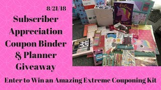CONTEST CLOSED! Coupon Binder & Planner Giveaway 💕