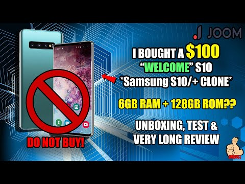 iWish: $100 WELCOME S10 (Samsung Galaxy S10/+ CLONE) Unboxing & Review - DO NOT BUY THIS!