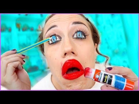 DIY MAKEUP TRICKS WITH SCHOOL SUPPLIES!
