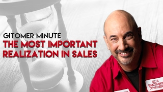 Gitomer Minute: The Most Important Realization in Sales