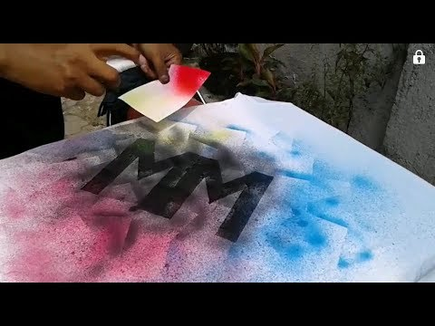T-Shirt Spray Painting Stencil Technique, how to paint an airbrush shirt