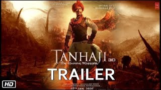 Tanaji Official Trailer | Ajay Devgan | Kajol | tanhaji the unsung warrior trailer | tanhaji Songs