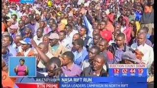 Raila Odinga leads NASA as they intensify their campaigns in North Rift