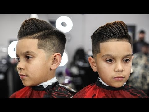 HAIRCUT TUTORIAL: CLEANEST KIDS COMBOVER | TAPER FADE