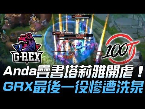GRX vs 100 又被羞辱!Anda疊書塔莉雅開虐 GRX最後一役慘遭洗泉!