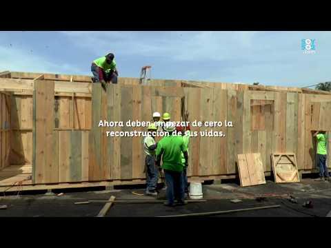Inicia la construcción de módulos habitacionales para los damnificados