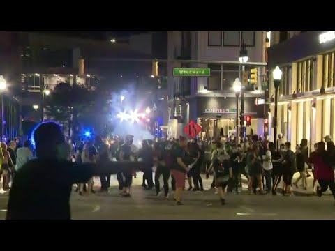 Protesters tear-gassed & arrested after blocking Woodward Avenue against Operation Legend