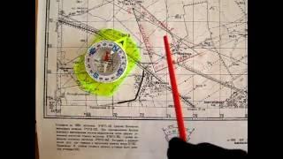 Работа с картой для новичков. Прокладка маршрута. Поправка на магнитное склонение.