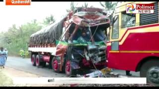 Pollachi Accident; Bus and Lorry collided with each other 25 injured | Polimer News