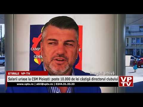 Salarii uriașe la CSM Ploiești: peste 10.000 de lei câștigă directorul clubului