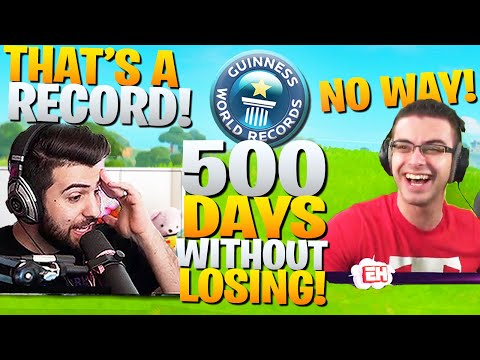 Nick Eh 30 and I Broke A Fortnite WORLD RECORD? (500 Days Without Losing) - Fortnite Battle Royale