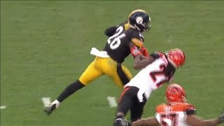 Le'veon Bell VICIOUS Stiff Arm on Dre Kirkpatrick | Bengals vs. Steelers | NFL
