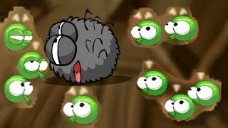 ПАУЧОК ловит зеленых МУХ и убегает от ПЧЕЛ (продолжение). Мультик игра для детей