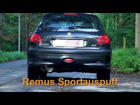 Peugeot 206 1,6l REMUS Sportauspuff Endschalldämpfer SOUNDFILE by Loony Tuns