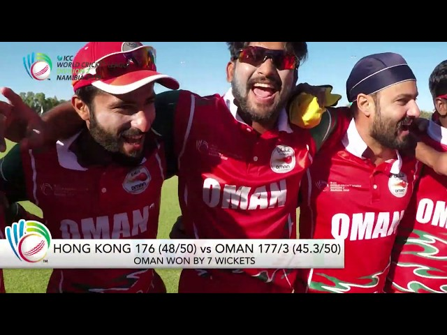 ICC WCL Division 2: Hong Kong v Oman full match highlights