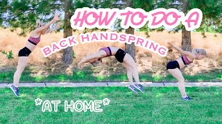 HOW TO DO A BACK HANDSPRING + At Home | Brice Larimer