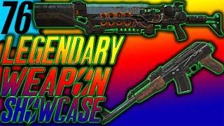 FALLOUT 76 LEGENDARY WEAPONS showcase   Legendary Gauss rifle   2 shot handmade
