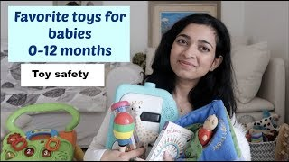 Baby toys 0-12 months: Favorites and toy safety tips