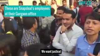 Fired employees protest at Snapdeal's office