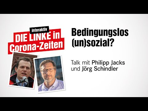 Talk mit Jörg Schindler – Thema: Bedingungslos (un)sozial?