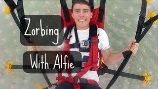 Zorbing with Alfie!
