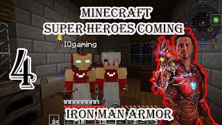 អាវIron man Minecraft Super Hero Coming Multiplayer with IQ Gaming # 4 Iron man Chestplate