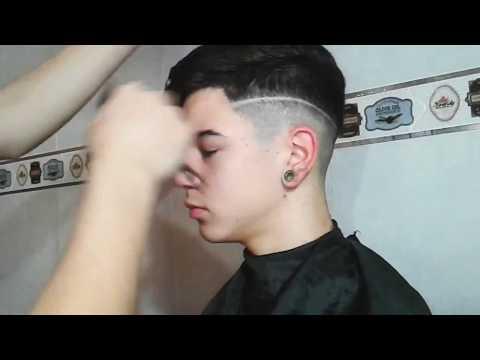 Degrade con línea | Corte de pelo