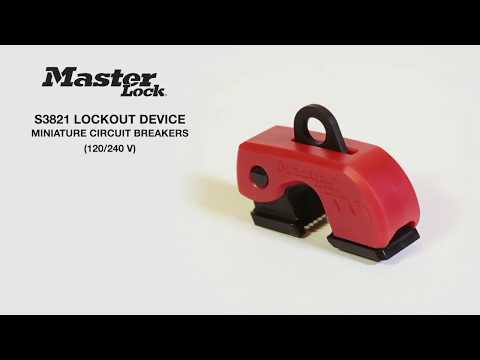 Screen capture of Master Lock Safety S3821 - Grip Tight™ Plus Circuit Breaker Lockout