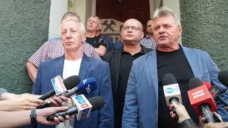 Górnicy chcą podwyżek. Strajkowali pod siedzibą Tauronu
