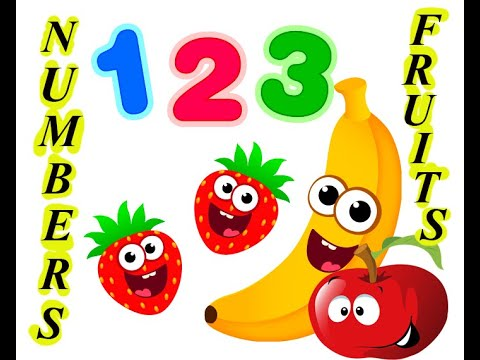 Learn Numbers 1 to 10. What number is it? Do you know this fruit? Learn Fruit Names and Numbers.