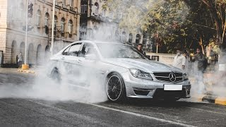 Scaring people with Mercedes C63 AMG | Loud Car Exhaust | Pranks in India| Reaction Video