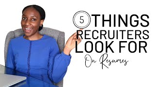 5 RESUME WRITING TIPS FROM A RECRUITER TO GET HIRED | How To Get Into Your Dream Career