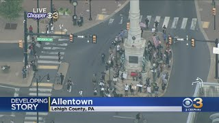Protest Underway In Allentown After Video Showed Officer Kneeling On Man's Neck