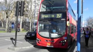 preview picture of video 'London Buses at Walthamstow Central 22 March 2014'