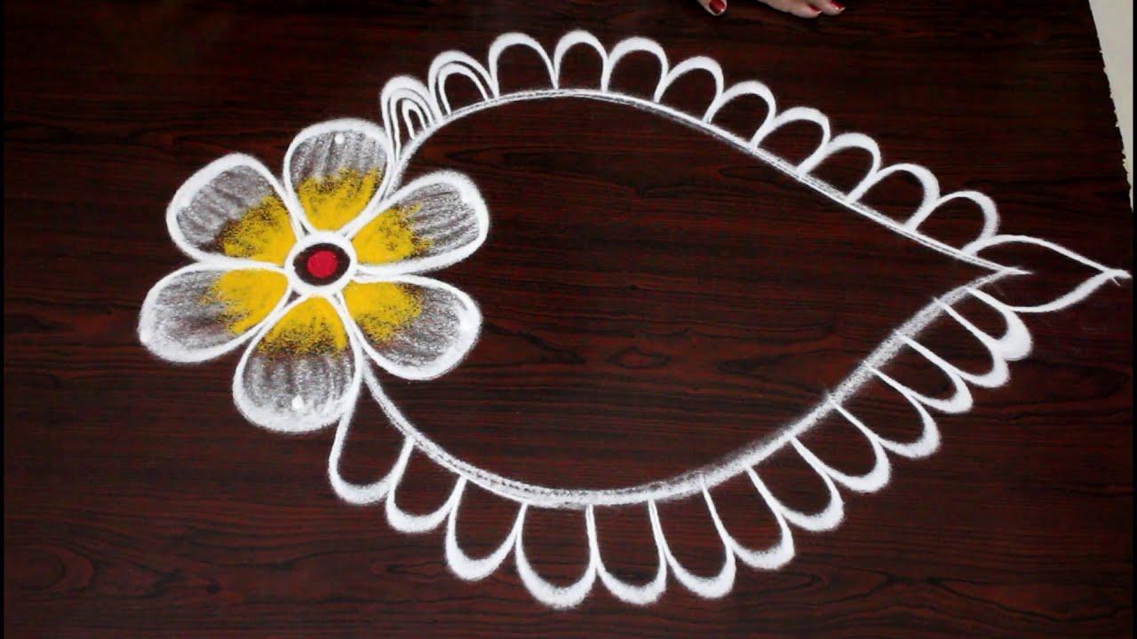 festival rangoli design by easy rangoli