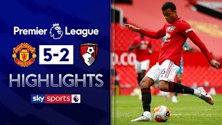 SUBSCRIBE ► http://bit.ly/SSFootballSub PREMIER LEAGUE HIGHLIGHTS ► http://bit.ly/SkySportsPLHighlights  Highlights from the Premier League as Man Utd come from behind to beat Bournemouth 5-2. Junior Stanislas had put the visitors ahead early on, before Greenwood, Rashford, Martial and Fernandes put another dent in Bournemouth's survival hopes.  Watch Premier League LIVE on Sky Sports here ► http://bit.ly/WatchSkyPL ►TWITTER: https://twitter.com/skysportsfootball ►FACEBOOK: http://www.facebook.com/skysports ►WEBSITE: http://www.skysports.com/football  MORE FROM SKY SPORTS ON YOUTUBE: ►SKY SPORTS CRICKET: https://bit.ly/SubscribeSkyCricket ►SKY SPORTS BOXING: http://bit.ly/SSBoxingSub ►SOCCER AM: http://bit.ly/SoccerAMSub ►SKY SPORTS F1: http://bit.ly/SubscribeSkyF1