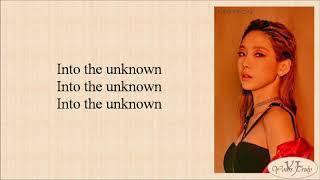 Taeyeon (태연) - Into The Unknown (숨겨진 세상 Frozen 2 OST) Easy Lyrics