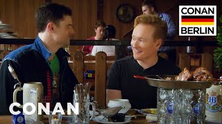 Conan's Lunchtime German Lesson With Flula Borg | CONAN on TBS