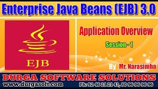 EJB 3.0 || EJB Session - 1 || Application Overview by Narasimha
