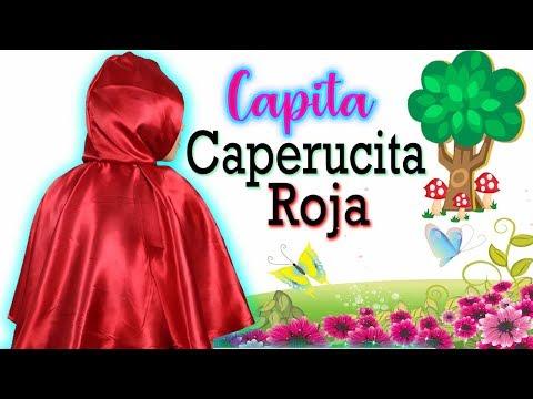 Capa de CAPERUCITA ROJA  para Disfraz /  Manualidades con Mariel Picazo