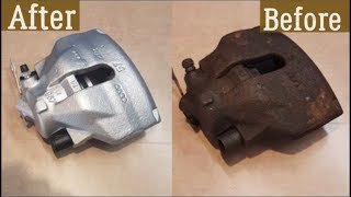 How to rebuild front brake caliper - VW Audi Skoda Seat - New piston and seals (COMPLETE GUIDE)