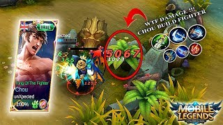 WTF DAMAGE !!! Chou unXpected Build Fighter - Mobile Legends