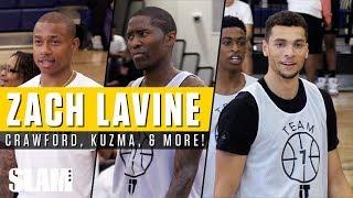 Zach Lavine SNAPPED at Zeke End! Jamal Crawford, Kyle Kuzma, & More! | SLAM Highlights